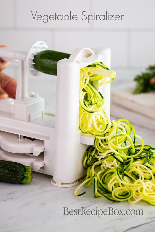 Vegetable Spiralizer Zucchini Noodles Recipes @bestrecipebox