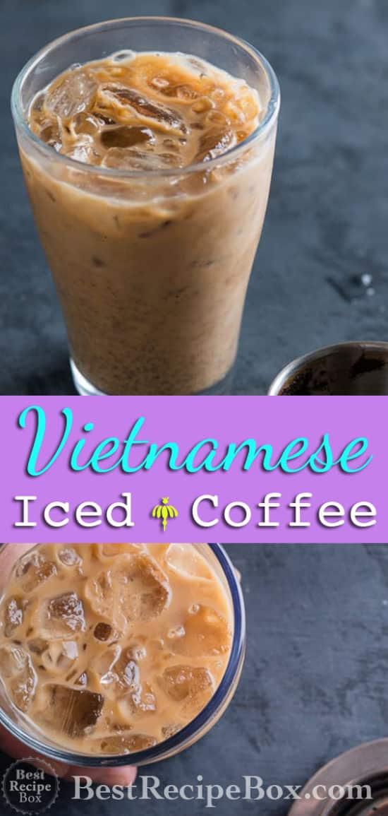 Vietnamese Iced Coffee Recipe Cafe Sua Da Recipe | @bestrecipebox