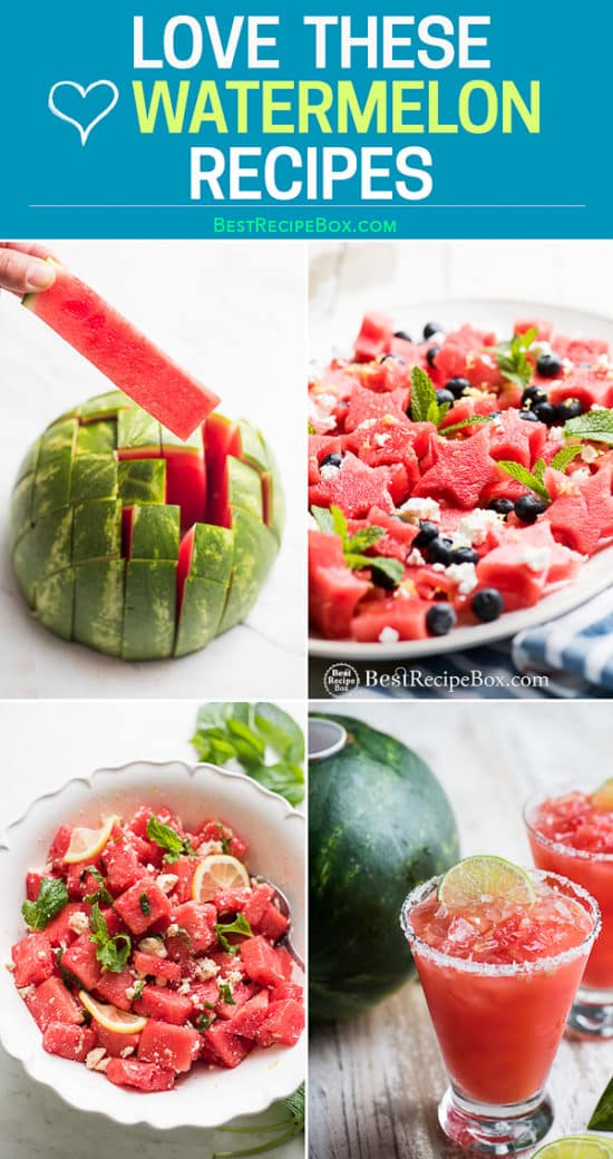 Recipes for watermelon in salads and cocktails step by step