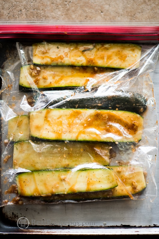 Grilled Garlic Zucchini Recipe that's healthy and low carb @bestrecipebox
