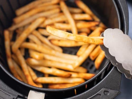air fryer frozen fries holding