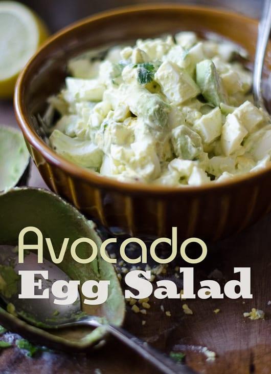 Avocado Egg Salad Recipe in a bowl