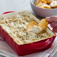 Hot Baked Crab Dip that's hot n' creamy , chunky n' delicious , addicting n' cheesy on BestRecipeBox.com