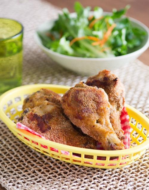 Baked Fried Chicken Recipe in basket