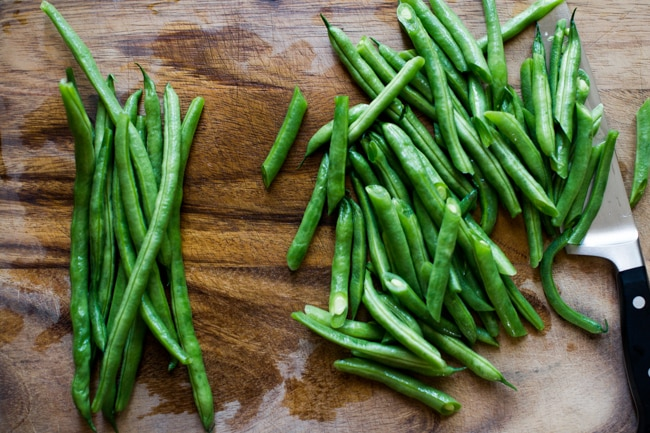 Sesame Green Beans Recipe- Easy Vegetable Recipe step by step