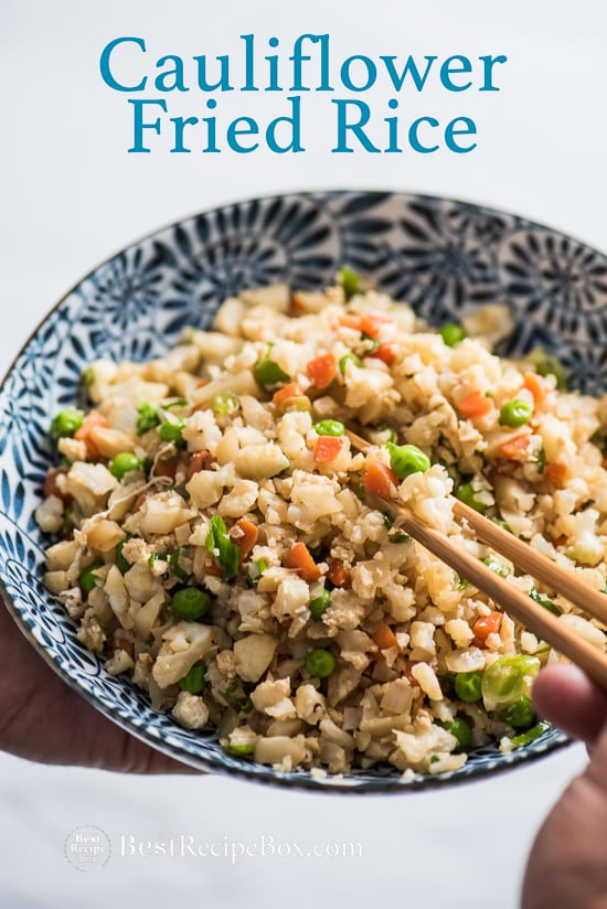 Cauliflower Fried Rice Recipe | Healthy fried rice with cauliflower