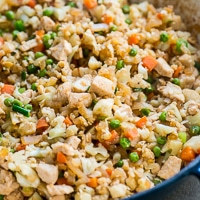 "Chicken Cauliflower ""Fried Rice"""