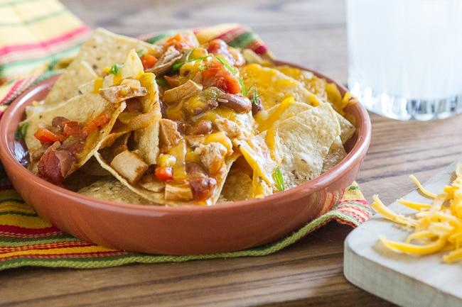 Chicken Chili Nachos Recipe from ChickenRecipeBox.com