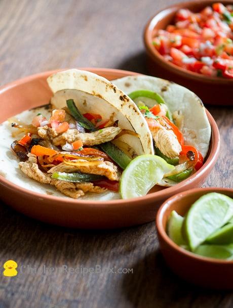 Great and Easy Chicken Fajitas Recipe from ChickenRecipeBox.com