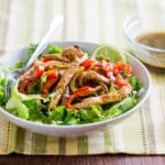Chicken Fajita Salad with Cumin Lime Dressing