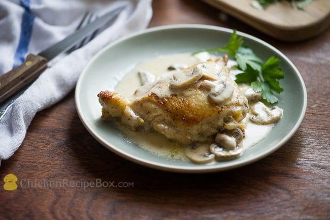 Wonderful recipe for Creamy Chicken in Mushroom Wine Sauce via ChickenRecipeBox.com