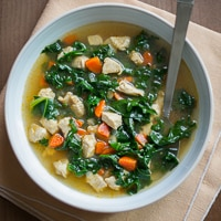 Healthy Chicken Soup with Kale