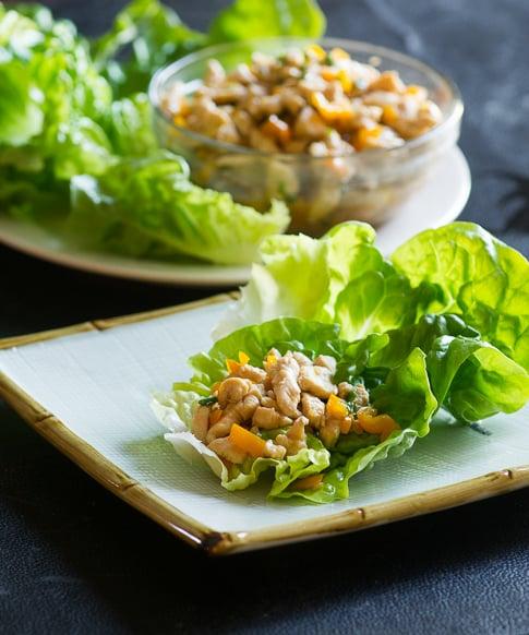 Easy Chicken Lettuce Cups Recipe from ChickenRecipeBox.com