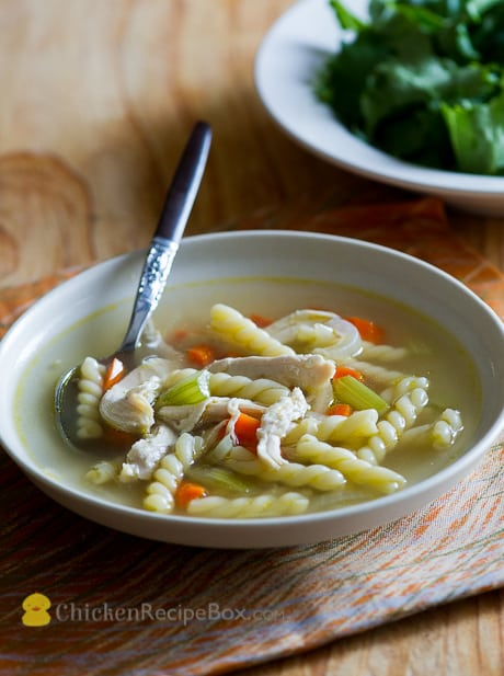 Easy and delicious Homemade Chicken Noodle Soup Recipe