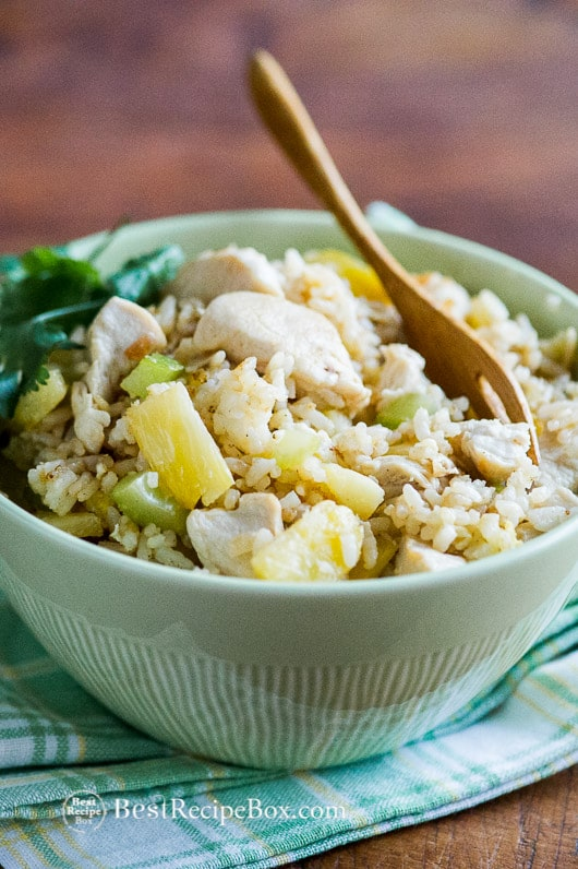Delicious Pineapple Chicken Fried Rice Recipe for the whole family | @bestrecipebox
