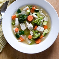 Loaded Vegetable Chicken Soup
