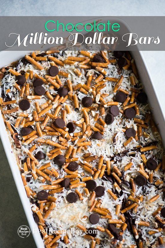 Chocolate Million Dollar Bars are the Best Homemade Candy Bars Ever! | @bestrecipebox