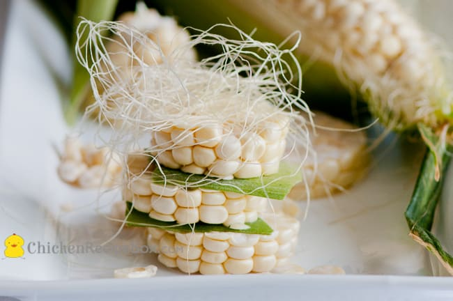 Perfect for Summer: Corn and Chicken Salad Recipe from ChickenRecipeBox.com it can be made ahead of time for picnics and any party!