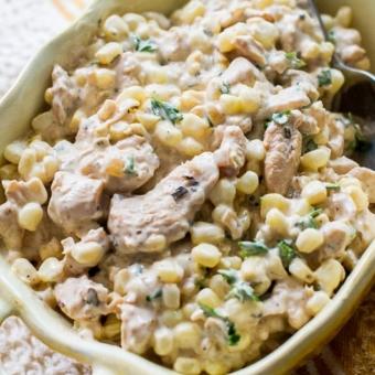 Best Chicken Salad Recipe with Fresh Corn | @bestrecipebox