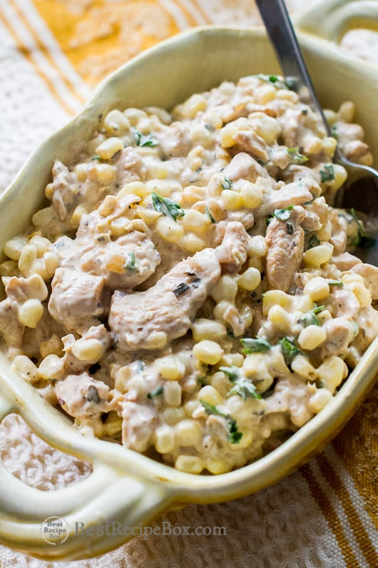Best Chicken Salad Recipe with Fresh Corn | @bestrecipebox