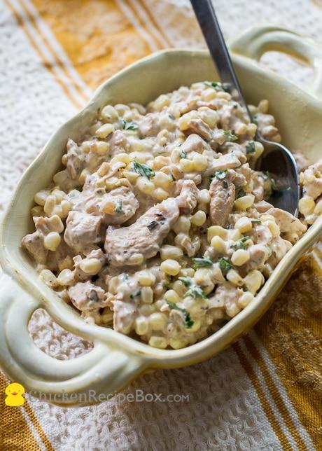 Corn and Chicken Salad Recipe with Boneless Skinless Chicken Breast
