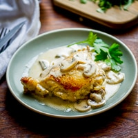 Cream Chicken in Mushroom Wine Sauce