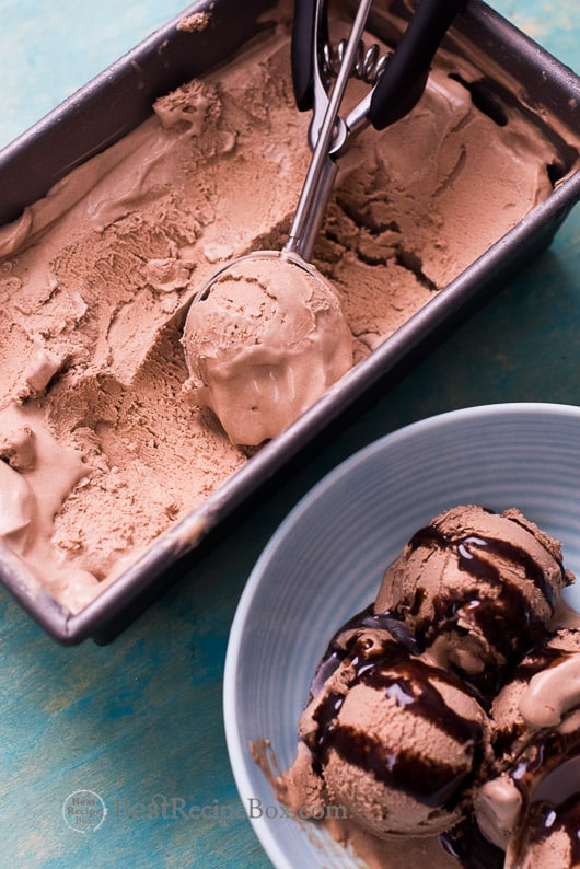 No Churn Easy Chocolate Ice Cream Recipe with just 3 Ingredients | @bestrecipebox