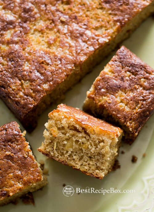 Easy , Moist and Spiced Pineapple Cake Recipe on @bestrecipebox