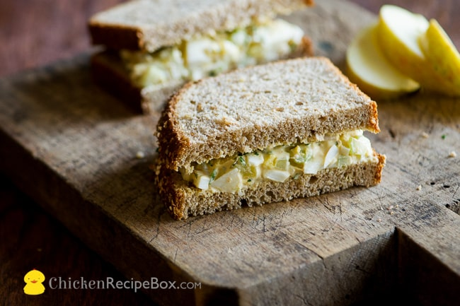 Easy Egg Salad Recipe for everyday lunch or dinner via ChickenRecipeBox.com