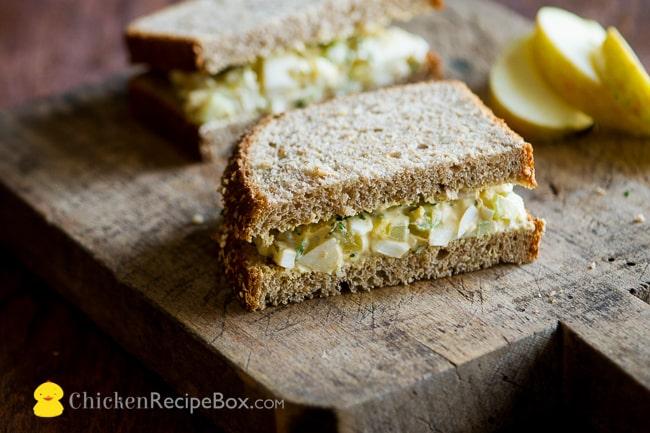 Easy Egg Salad Recipe for everyday lunch or dinner via ChickenRecipeBox.com