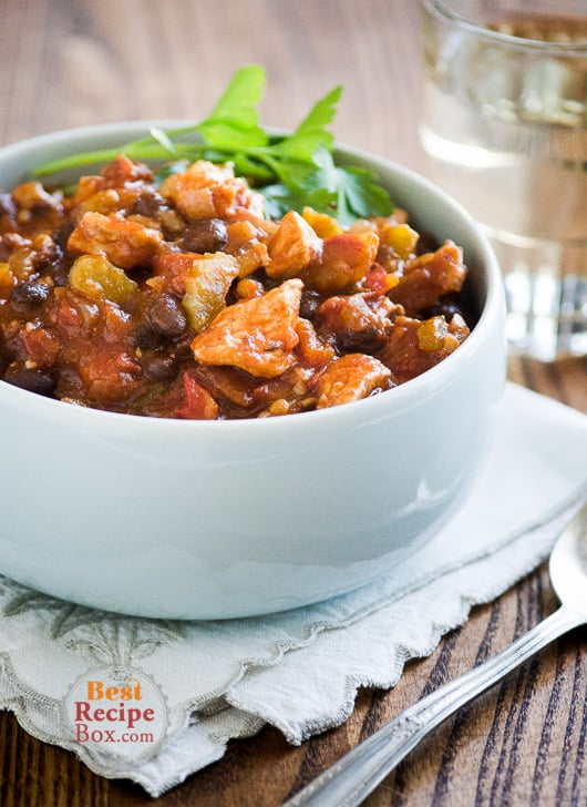 Fresh Chicken Chili Recipe with Vegetables | @bestrecipebox