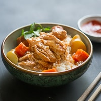 Slow Cooker Asian Ginger Coconut Milk Chicken