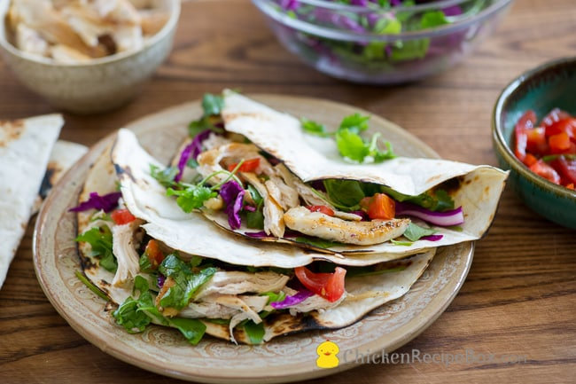 Healthy Chicken Tacos Recipe from ChickenRecipeBox.com