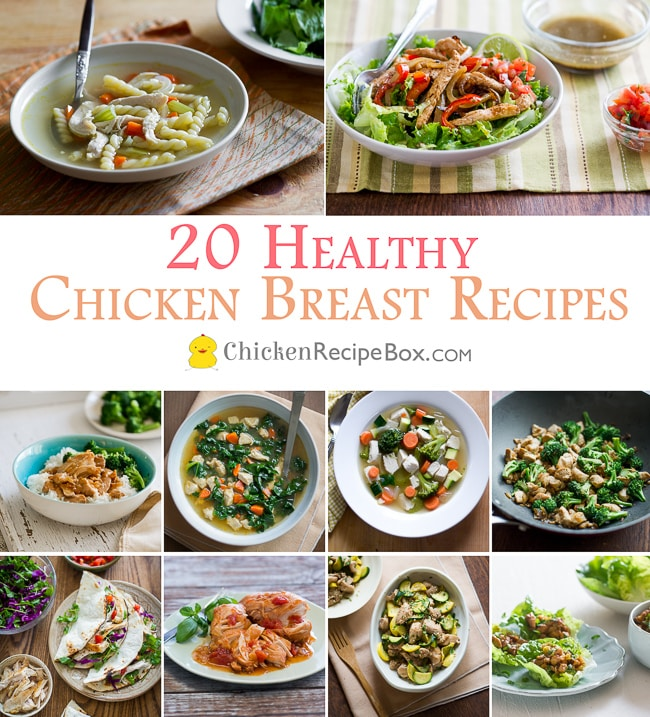 healthy chicken breast recipes from ChickenRecipeBox.com