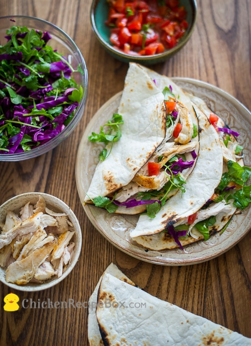 Healthy Chicken Breast Tacos Recipe - eat without the guilt from ChickenRecipeBox.com