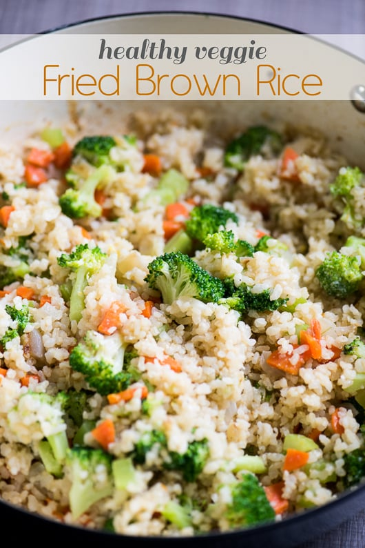 Healthy Fried Brown Rice Recipe with Tons of Veggies | @bestrecipebox