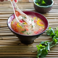 Hot and Sour Thai Chicken Soup