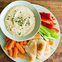 Easy, Creamy Homemade Hummus recipe