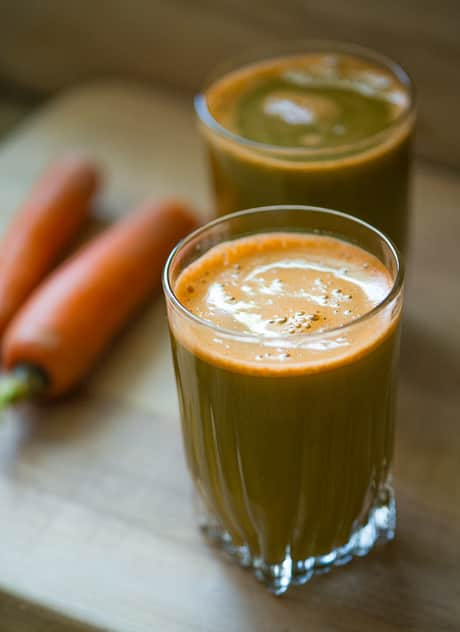 Kale Slow Juicer Recipe : Healthy Green Juice Carrot and Kale Juice Recipes