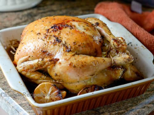 whole baked chicken recipe
