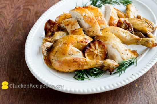 whole baked chicken in oven