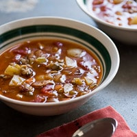 30 minute Manhattan Clam Chowder