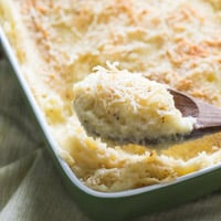 Amazing 3 Cheese Mashed Potato Bake