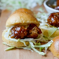 BBQ Chicken Meatball Sliders