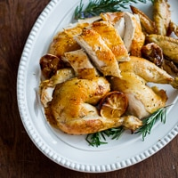Meyer Lemon & Rosemary Roasted Chicken