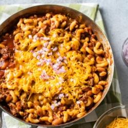 One Pot Chili Mac and Cheese Recipe | BestRecipeBox.com
