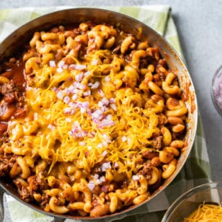 One Pot Chili Mac and Cheese Recipe | BestRecipeBox.com