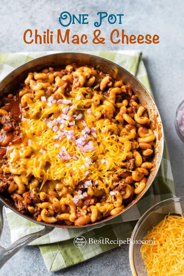 One Pot Chili Mac and Cheese Recipe   BestRecipeBox.com