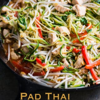 Zucchini Noodle Pad Thai Recipe - Healthy and Amazing! | @bestrecipebox