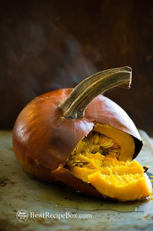 How to make homemade pumpkin puree. Make it fresh, you'll love it! on @bestrecipebox